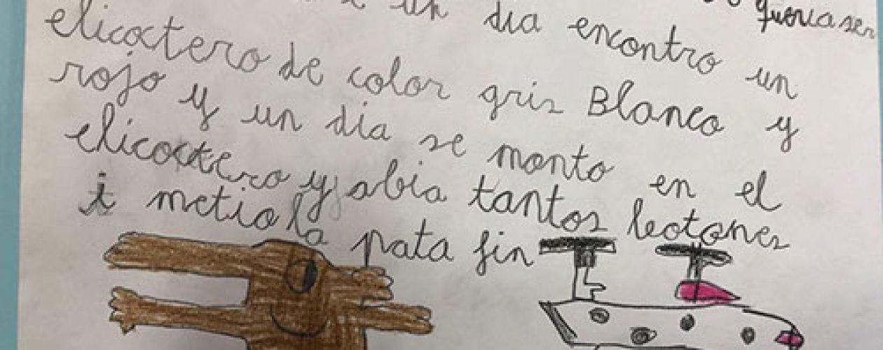 Los niños de Kindergarten comienzan a escribir sus primeras historias ¡Enhorabuena!