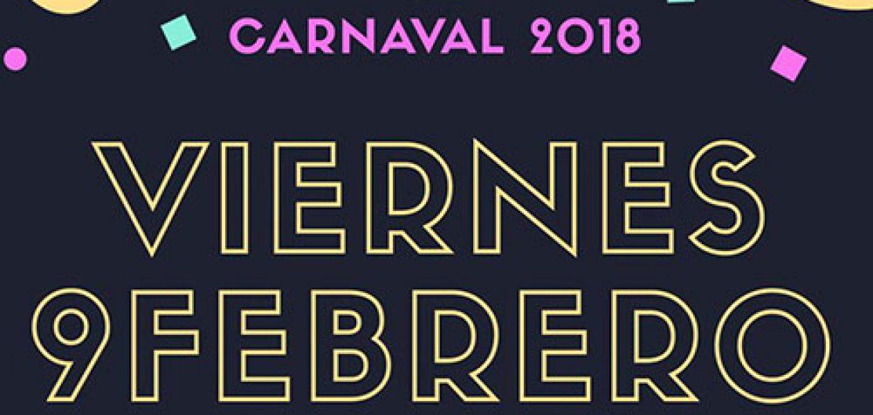 Fiesta de Carnaval el viernes 9 de febrero
